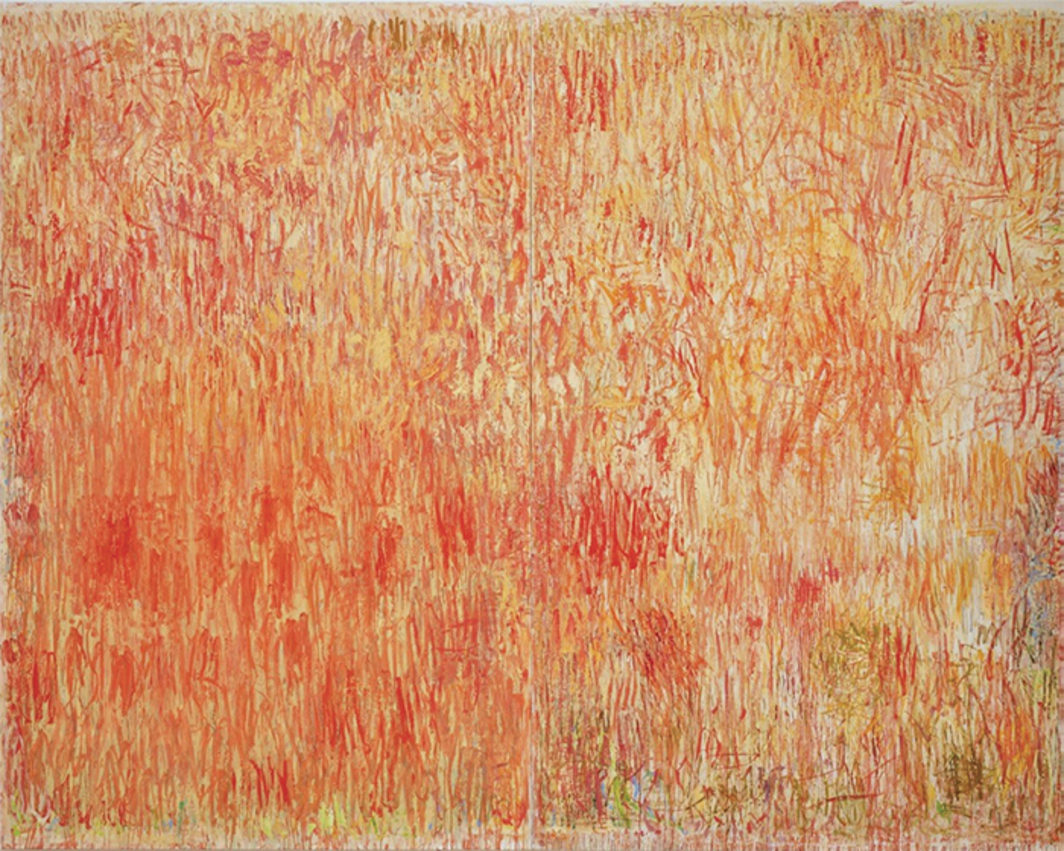 "Christopher Le Brun, Goldengrove, 2015–16, oil on canvas, 8' 10 1/4"" × 11' 2""."