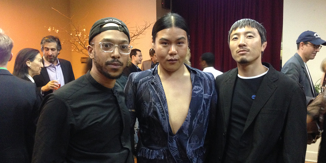 Artists Richard Kennedy, Kyle Luu, and Stewart Uoo. (Photo: Dawn Chan)