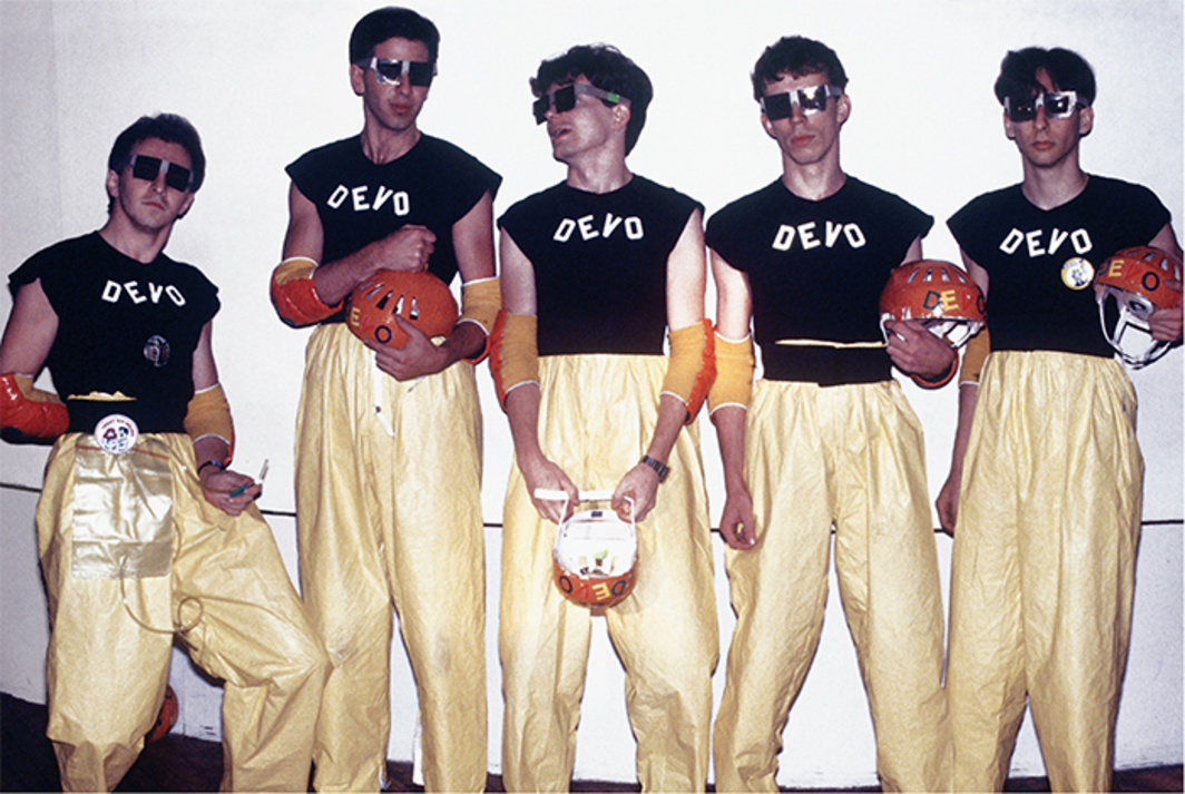 *Devo, 1978.* Photo: Stephen Morley/REX/Shutterstock