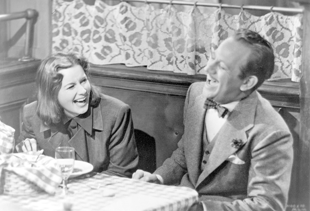 Ernst Lubitsch, Ninotchka, 1939, 35 mm, black-and-white, sound, 110 minutes. Ninotchka and Count Leon d'Algout (Greta Garbo and Melvyn Douglas).