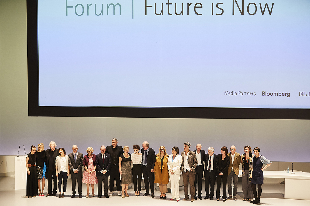 """The Future Is Now"" conference at Teatro Real. (Photo: Orlando Gutierrez)"