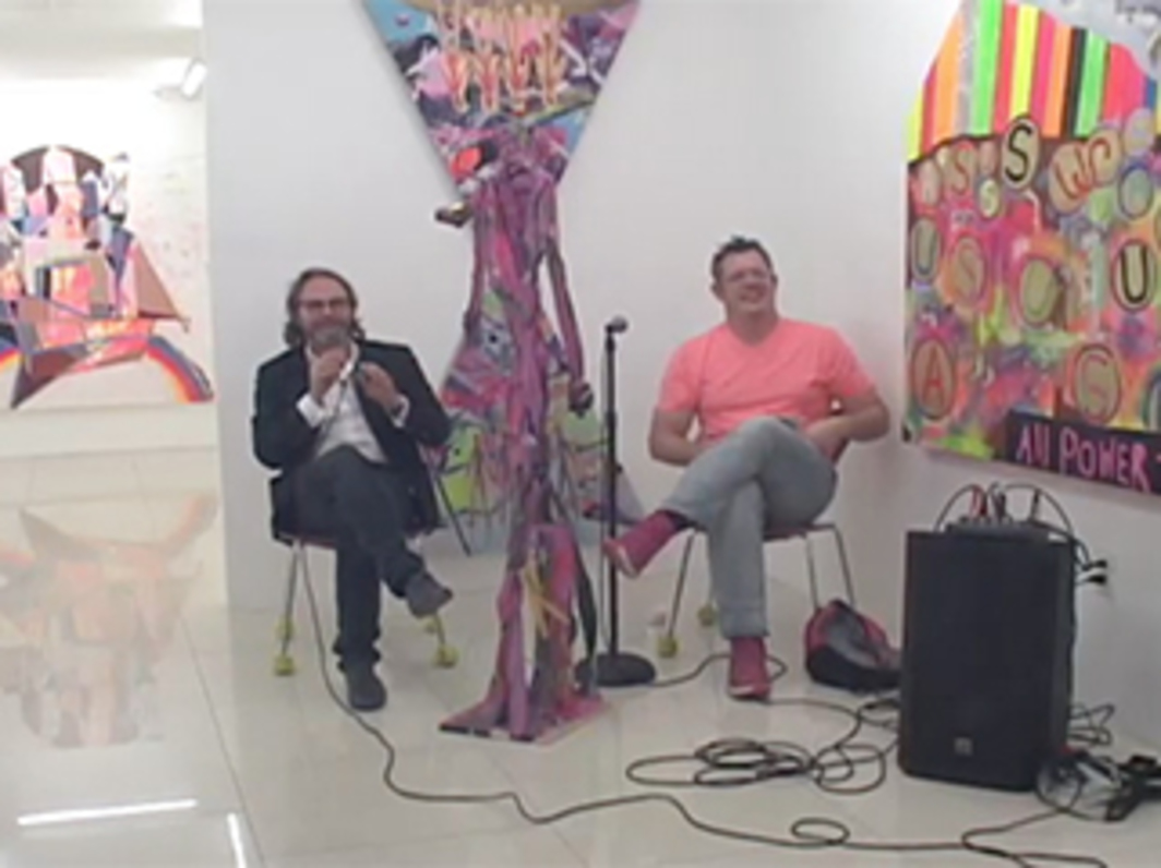 Zachary Cahill in conversation with Jan Verwoert at Regina Rex Gallery