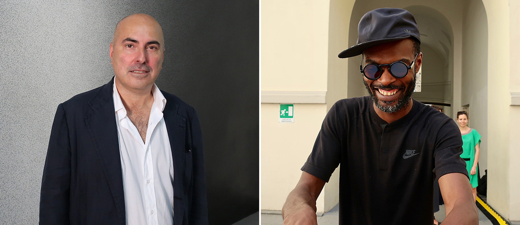 Left: Collector Maurizio Morra Greco. Right: Electronic composer/DJ Actress (Darren Cunningham).