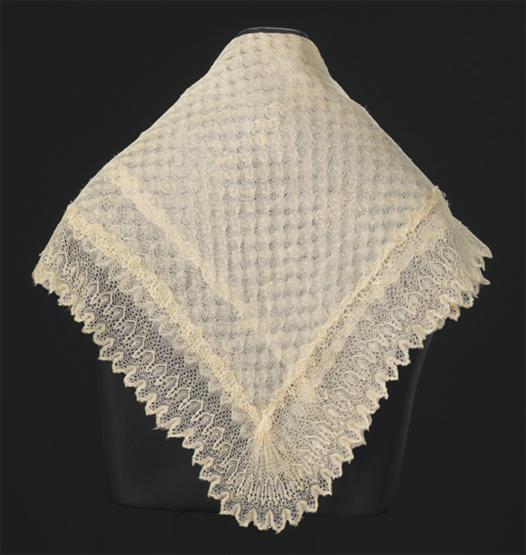 "Shawl given to Harriet Tubman by Queen Victoria, ca. 1897. From ""Slavery and Freedom,"" 2016–26, National Museum of African American History and Culture, Washington, DC."