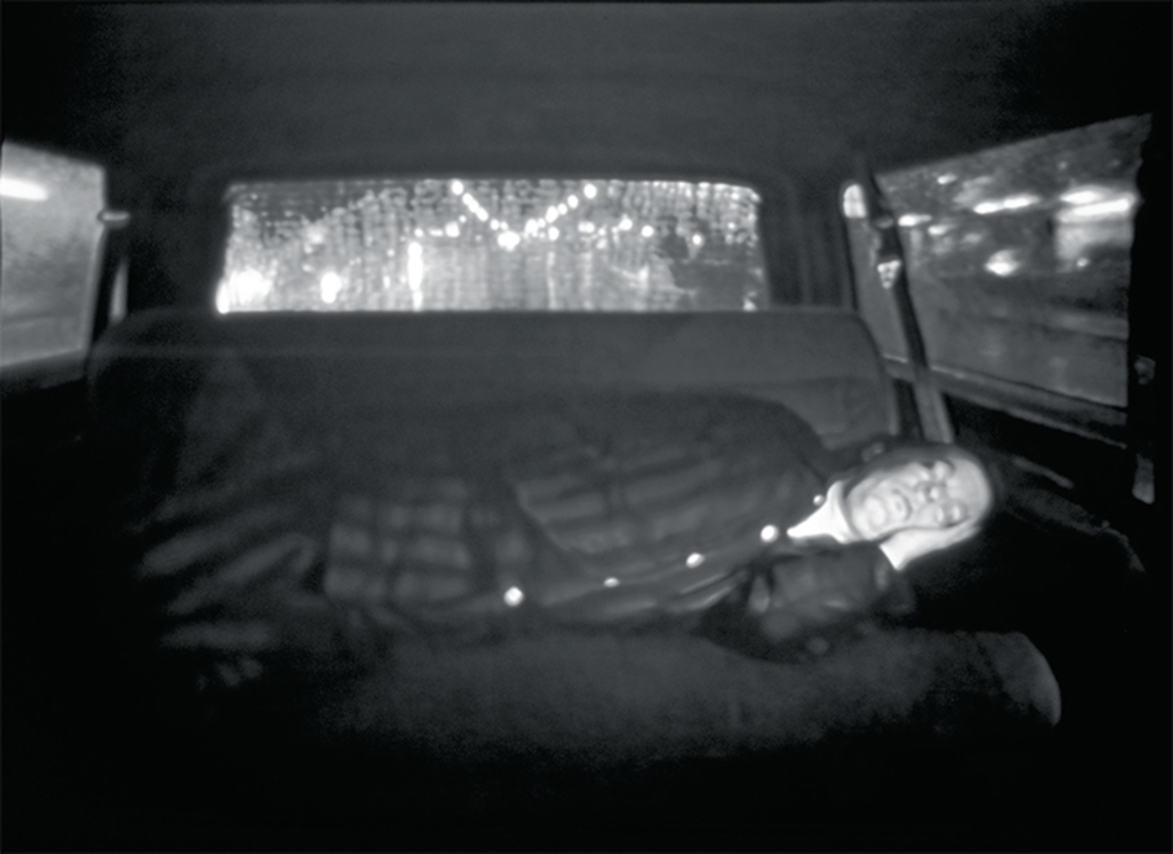 Rodney Graham, Halcion Sleep, 1994, video, black-and-white, silent, 26 minutes.