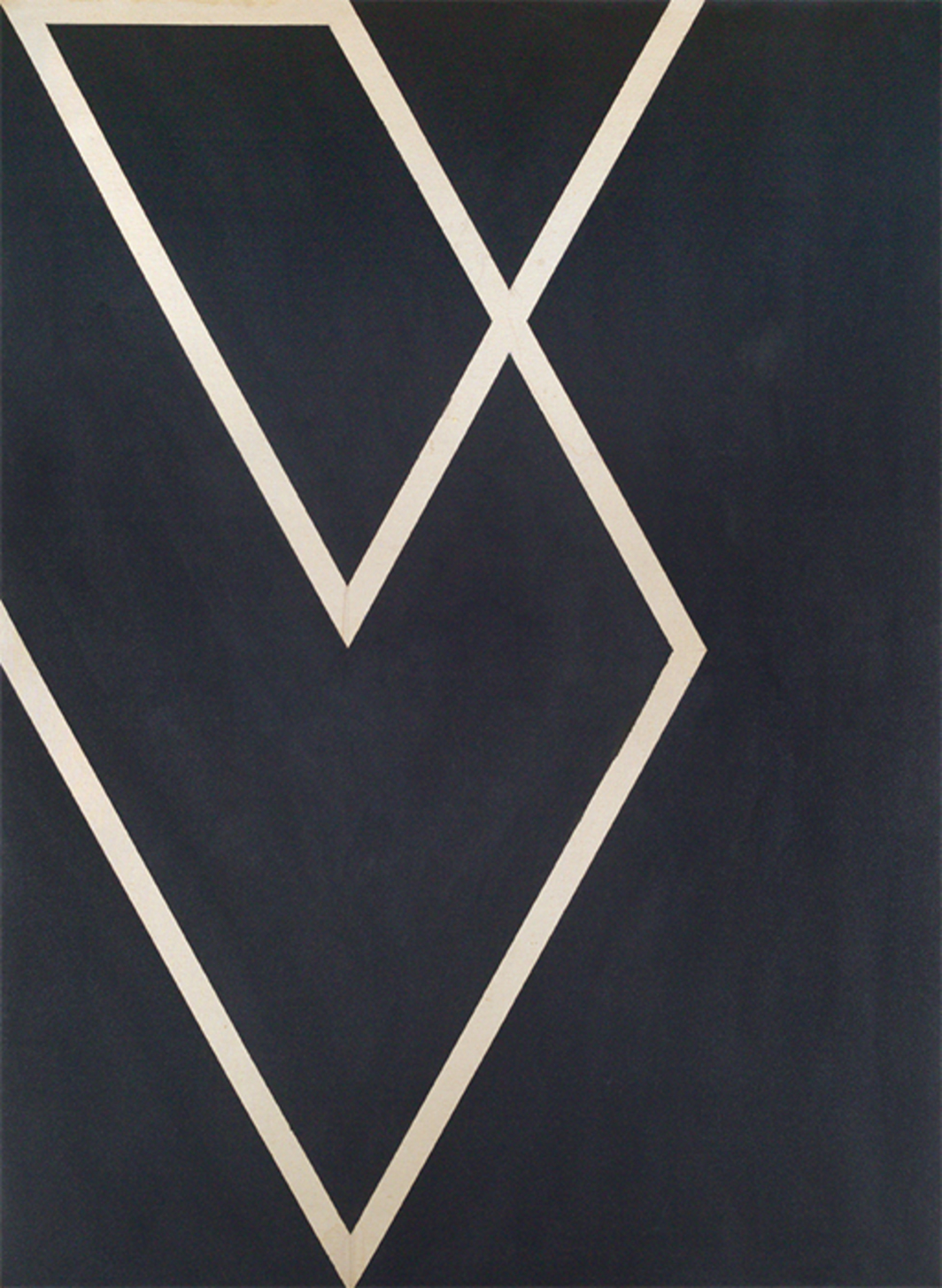 "Larry Zox, Cordova Diamond Drill, 1967, acrylic on canvas, 66 × 48""."