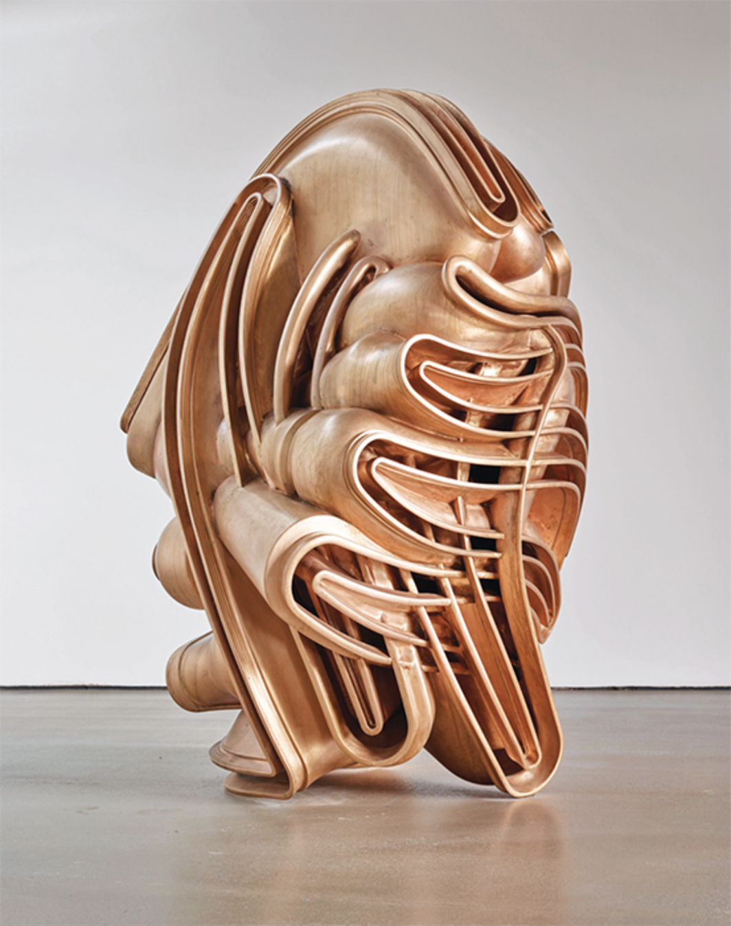 "Tony Cragg, Migrant, 2015, bronze, 86 5/8 × 59 × 57 7/8"". Photo: Michael Richter."