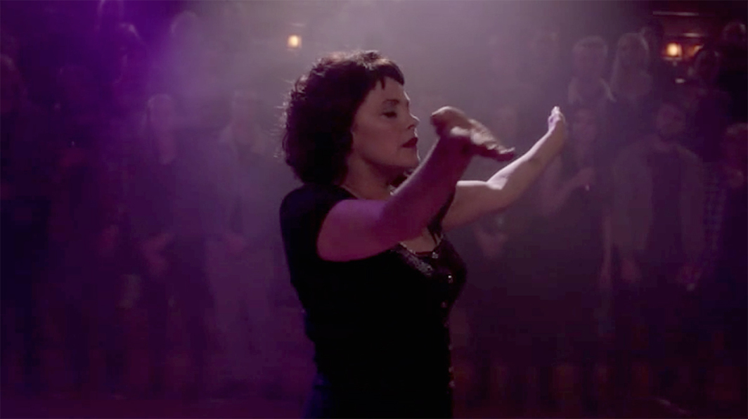 Twin Peaks: The Return, 2017, still from a TV show on Showtime. Season 3, episode 16. Audrey Horne (Sherilyn Fenn).