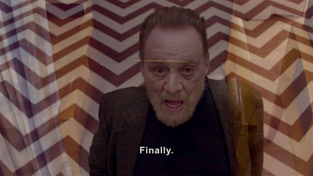 Twin Peaks: The Return, 2017, still from a TV show on Showtime. Season 3, episode 16. Phillip Gerard (Al Strobel).
