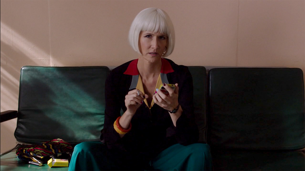 Twin Peaks: The Return, 2017, still from a TV show on Showtime. Season 3, episode 9. Diane Evans (Laura Dern).
