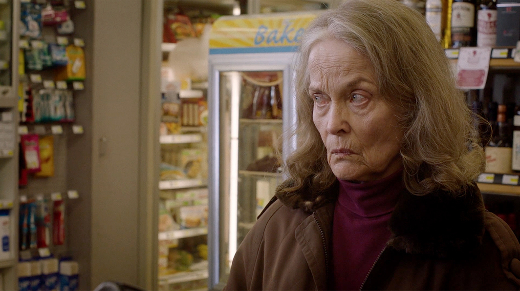 Twin Peaks: The Return, 2017, still from a TV show on Showtime. Season 3, episode 12. Sarah Palmer (Grace Zabriskie).