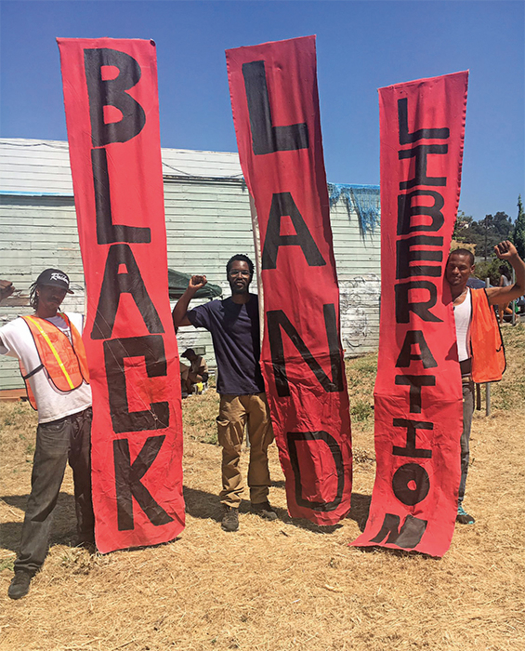 Black Land and Liberation Initiative event, East Oakland, CA, June 19, 2017. Photo: Roselyn Berry/Twitter.
