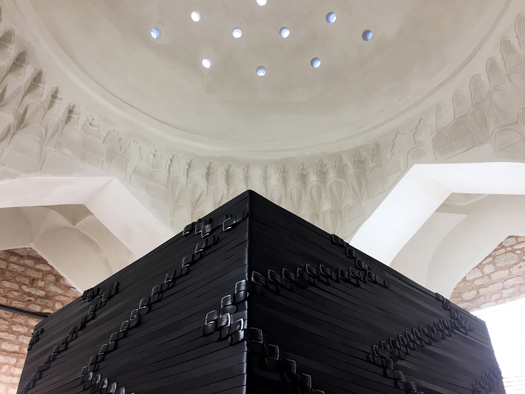 Monica Bonvicini's Belt Out, 2017, at the Küçük Mustafa Paşa Hammam. (Except where noted, all photos: Gökcan Demirkazik)