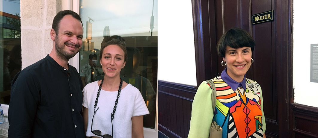 Left: ArtAsiaPacific editor-at-large H.G. Masters and curator and writer Duygu Demir. Right: Project ArtBeat's Natia Buka.