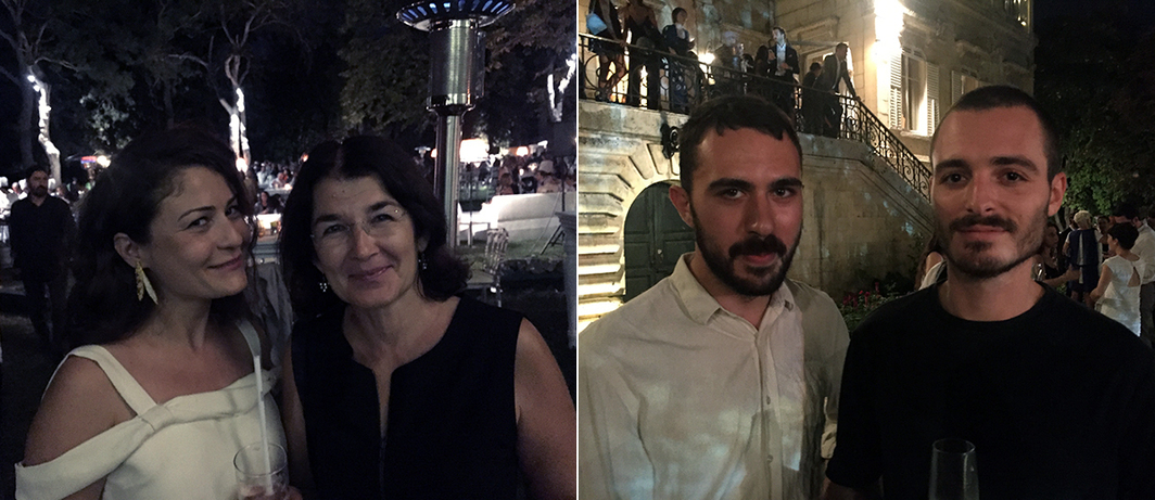 Left: Artists Aslı Çavuşoğlu and Hale Tenger. Right: Artists Özgür Kar and Sabo Day.