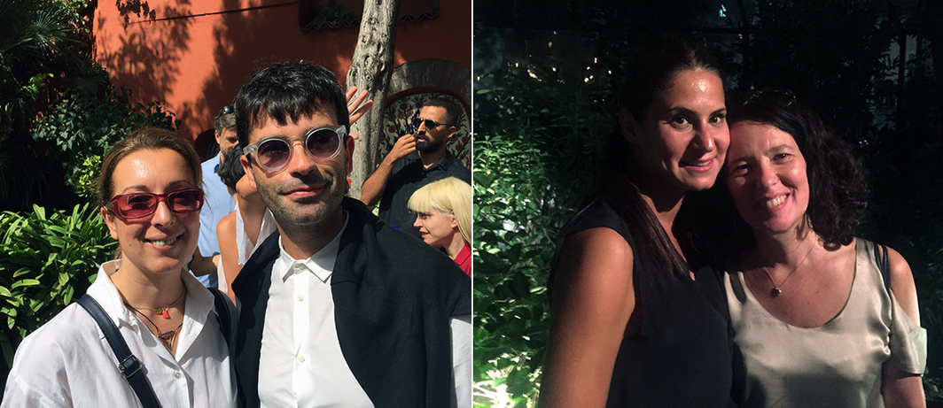 Left: Istanbul Modern curators Öykü Özsoy and Ümit Mesci. Right: Elipsis Projects founder Sinem Yörük and Protocinema's Mari Spirito.