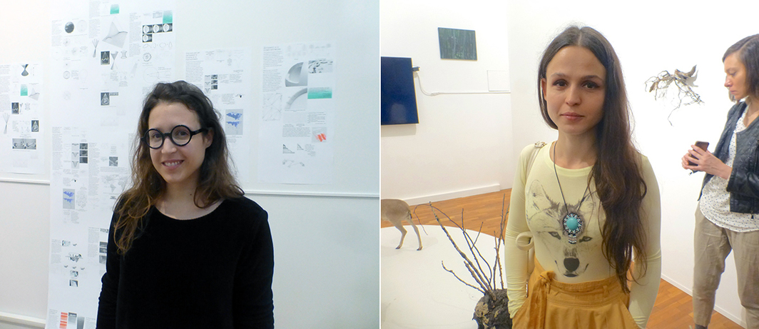Left: Artist Louise Drulhe. Right: Artist Olya Kroitor.