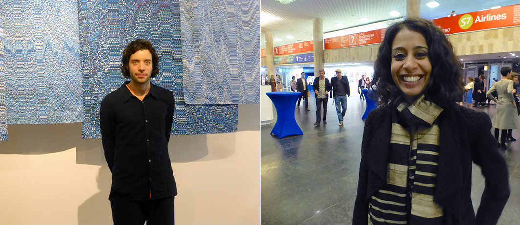 Left: Artist Mathieu Merlet-Briand. Right: Artist Rohini Devashar.