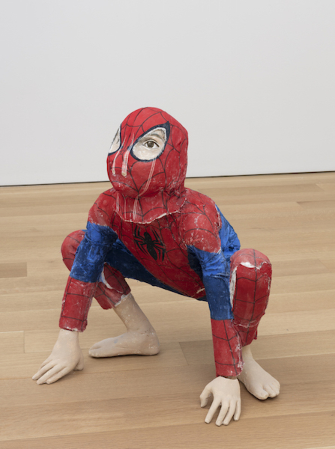 John Ahearn, Carlos/Spiderman, 2015, acrylic on cloth and plaster, dimensions variable.