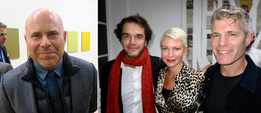 Left: Art Basel director Marc Spiegler. Right: Dealer Jonathan Viner with collectors Christen Wilson and Derek Wilson.