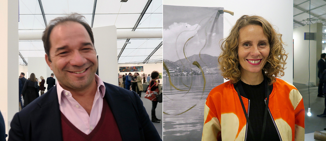 Left: Collector Iasson  Tsakonas. Right: Mónica Manzutto.