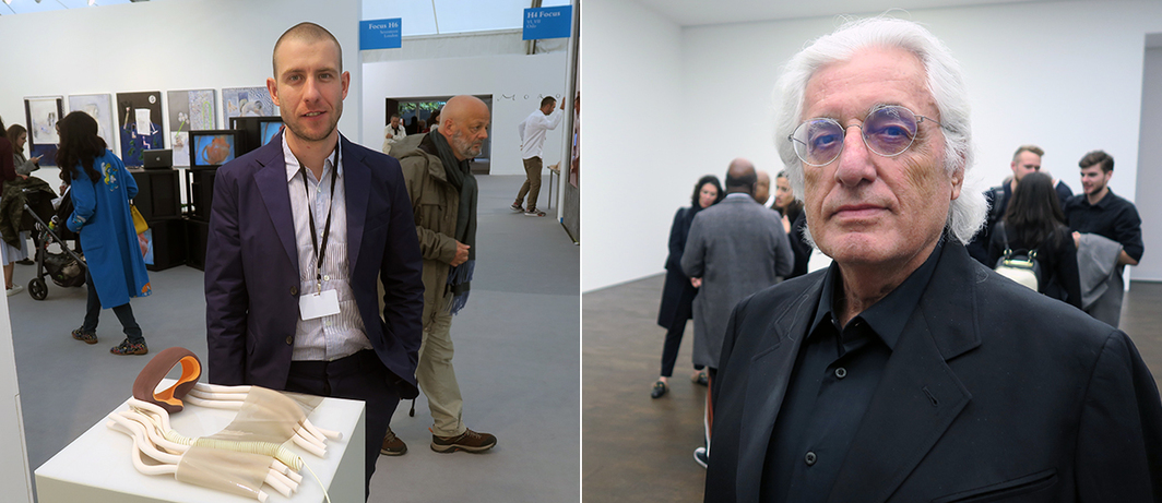 Left: Dealer Jamie Kenyon. Right: Curator Germano Celant.