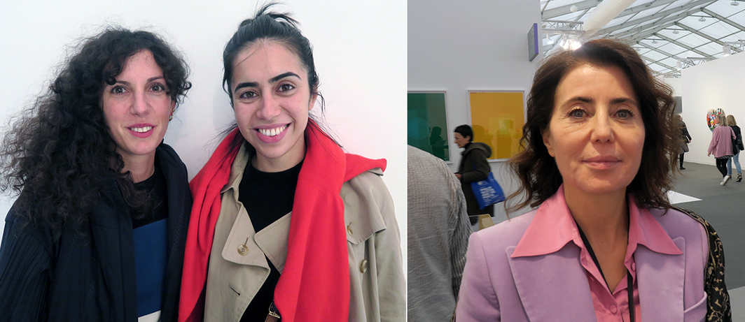 Left: Stanley Picker Gallery exhibitions curator Stella Bottai and Kaleidescope editor-in-chief Myriam ben Salah. Right: Critic and curator Paola Ugolini.