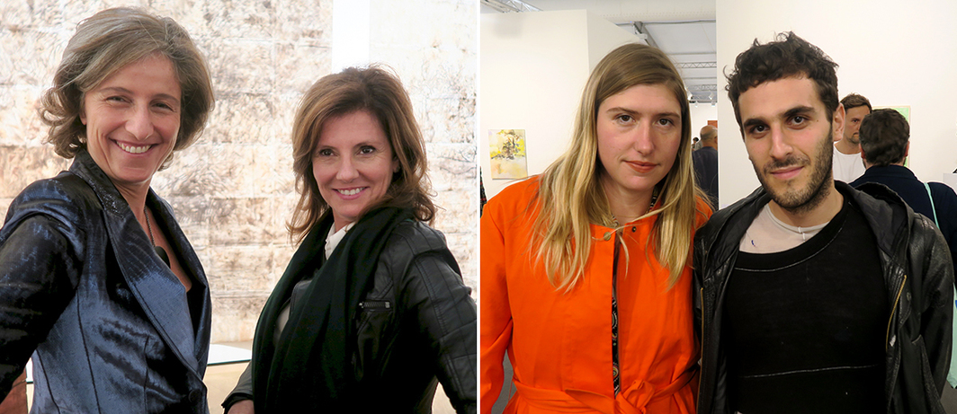 Left: Dealer Dominique Levy and Marta de Mello. Right: Designers Zoe Eckhaus and Mike Latta.