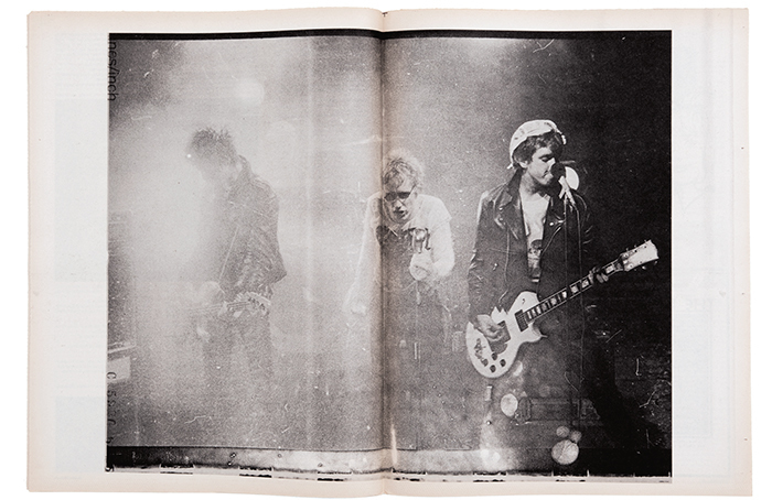 Spread from Slash 1, no. 4 (September 1977). The Sex Pistols, 1977.