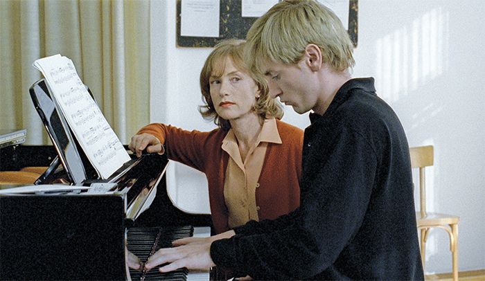 Michael Haneke, The Piano Teacher, 2001, 35 mm, color, sound, 130 minutes. Erika Kohut (Isabelle Huppert) and Walter Klemmer (Benoît Magimel).
