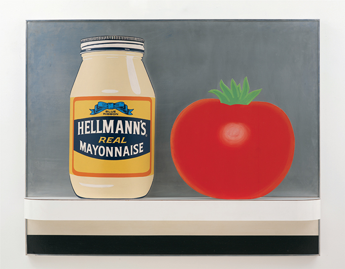 "Tom Wesselmann, Still Life #48, 1964, acrylic, collage, and assemblage on board, 48 x 60 x 8"". From ""Deadeye Dick: Richard Bellamy and His Circle."" © The Estate of Tom Wesselmann/Licensed by VAGA, New York."