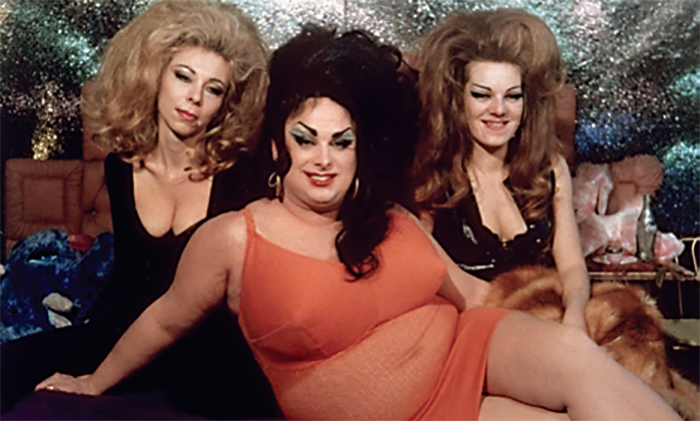 *John Waters, _Female Trouble_, 1974*, 16 mm, color, sound, 97 minutes. Chicklette (Susan Walsh), Dawn Davenport (Divine), and Concetta (Cookie Mueller).
