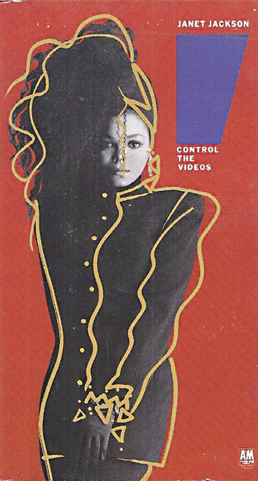 *Cover of Janet Jackson's _Control: The Videos_* (A&M Video, 1986).