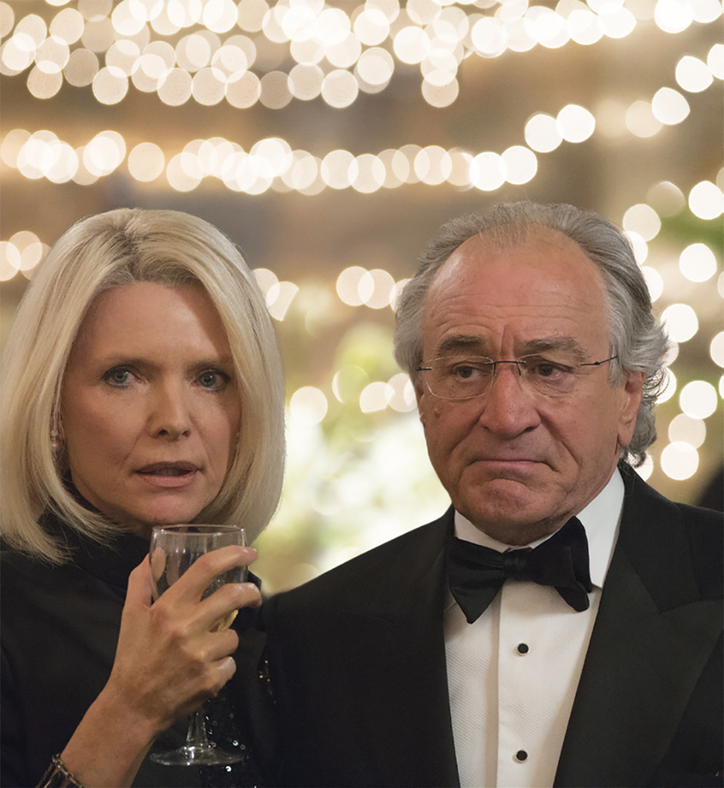 Barry Levinson, The Wizard of Lies, 2017, HD video, color, sound, 133 minutes. Ruth Madoff (Michelle Pfeiffer) and Bernie Madoff (Robert De Niro).