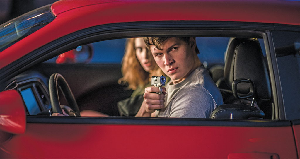 Edgar Wright, Baby Driver, 2017, 35 mm, color, sound, 112 minutes. Debora (Lily James) and Baby (Ansel Elgort).
