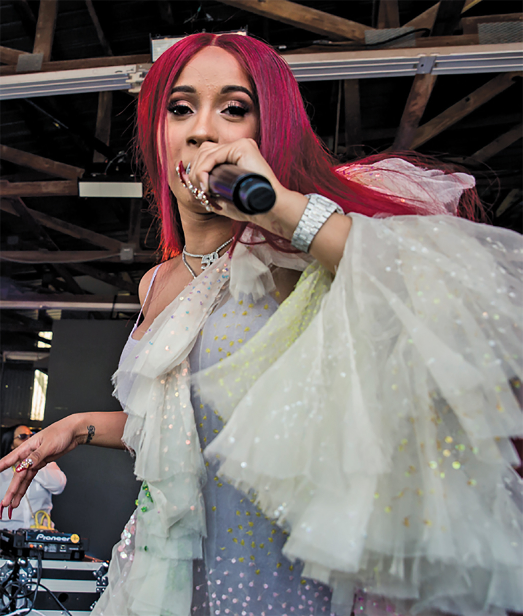 Cardi B performing at SXSW, Austin, March 18, 2017. Photo: Carlos Gonzalez/Redux. © The New York Times.