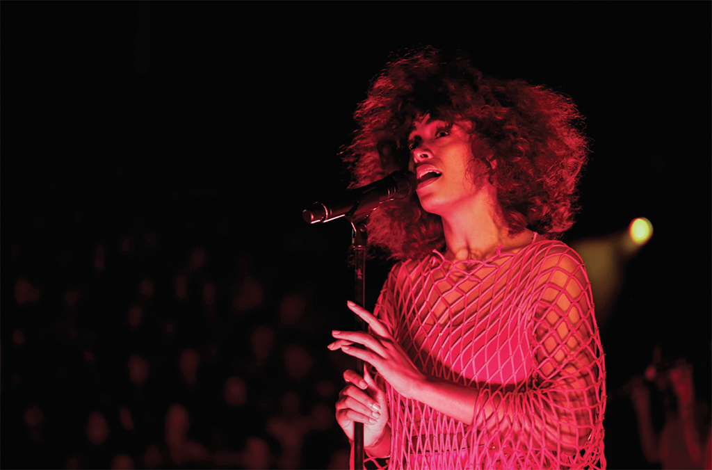 Solange performing at FORM Arcosanti, Arizona, May 12, 2017. Photo: Jacqueline Verdugo.