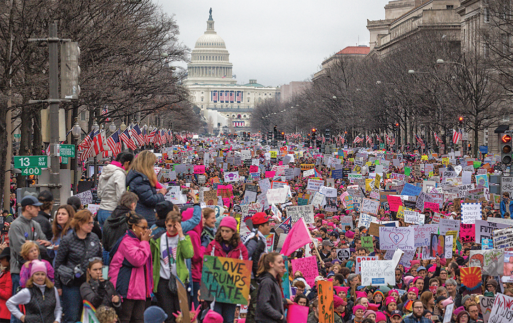 Women's March, Washington, DC, January 21, 2017. Photo: Mobilus in Mobili/Flickr.