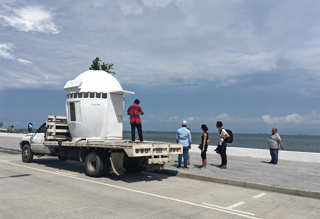 NuMu museum stopped in Veracruz, Mexico, en route from Guatemala City to Los Angeles, September 3, 2017.