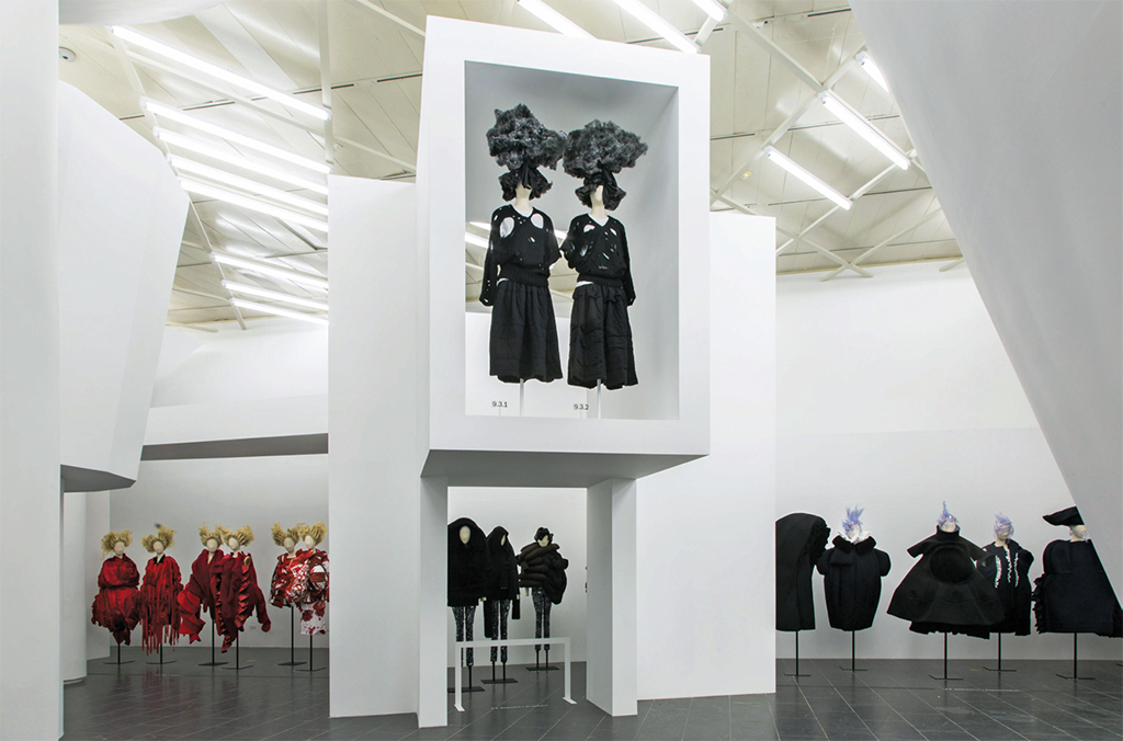 "View of ""Rei Kawakubo/Comme des Garçons: Art of the In-Between,"" 2017, Metropolitan Museum of Art, New York."