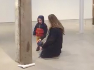 "Ariana Reines's video from ""Pubic Space,"" her exhibition with Oscar Tuazon"