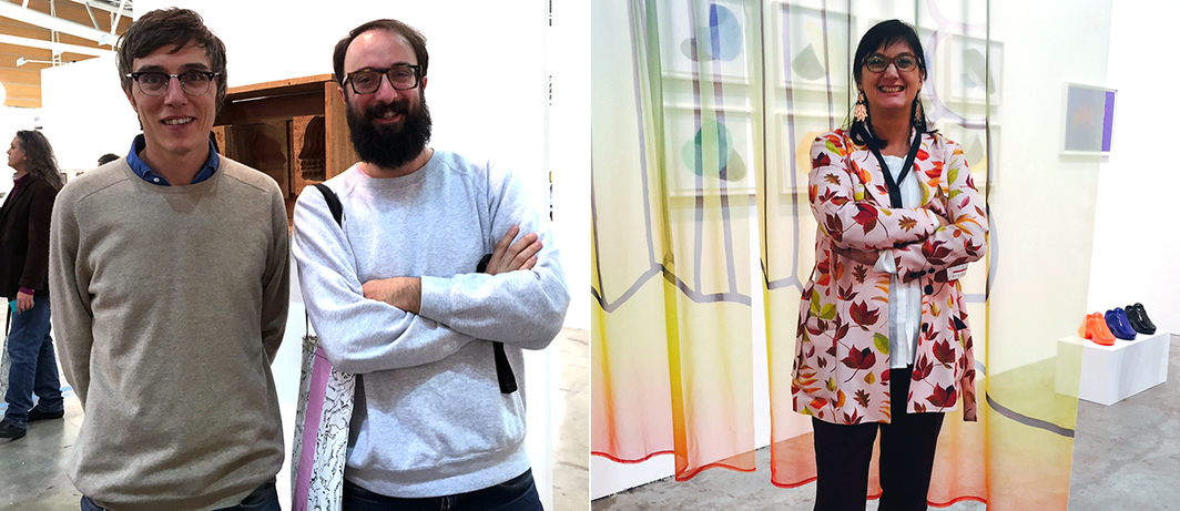 Left: Triennale Artistic Director Edoardo Bonaspetti and curator Antonio Grulli. Right: Artissima Director Ilaria Bonacossa.