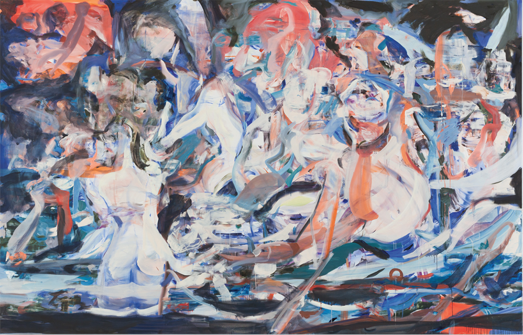 "Cecily Brown, Madrepora (Shipwreck), 2016, oil on linen, 8' 1"" x 12' 7 1/8""."