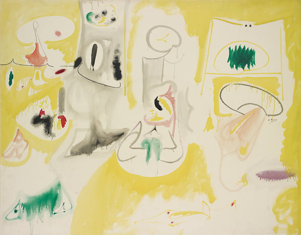 "Arshile Gorky, Pastoral, 1947, oil and pencil on canvas, 44 1/8 x 56"". © The Arshile Gorky Foundation/Artists Rights Society (ARS), New York."