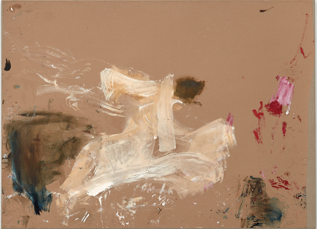 "Martha Jungwirth, Untitled, 2013, oil on paper on canvas, 56 1/8 × 76 5/8""."