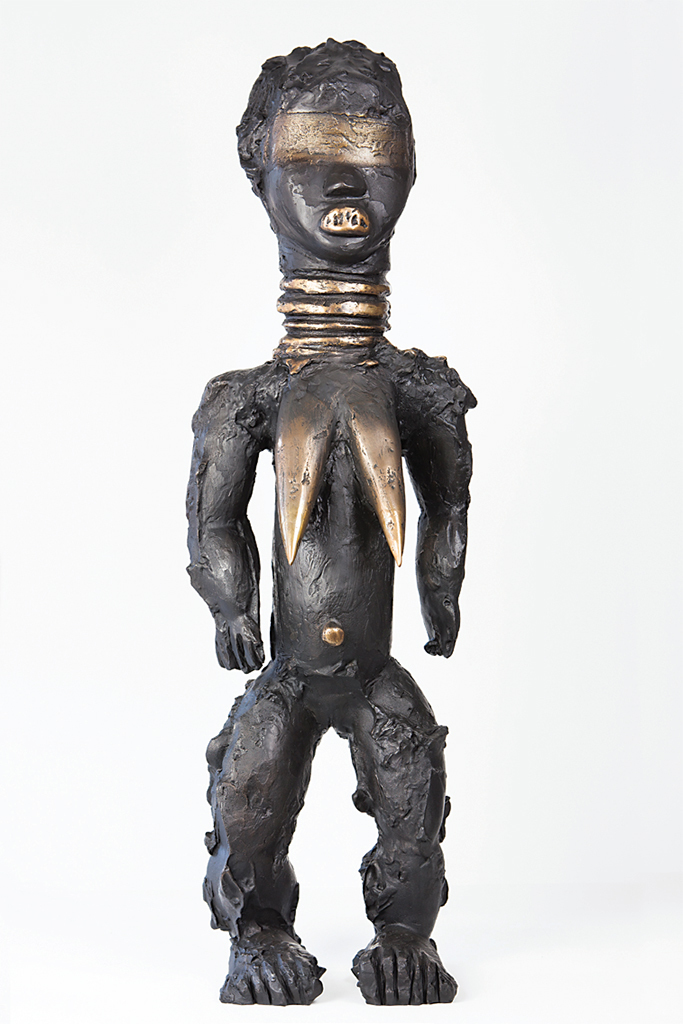 "Kendell Geers, Flesh of the Spirit 19, 2016, bronze, 57 1/2 × 17 3/8 × 13 3/8"". From the series ""Flesh of the Spirit,"" 2010–."