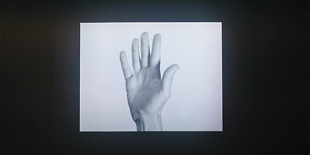 Yvonne Rainer, Hand Movie, 1966, 8-mm film transferred to video, black-and-white, silent, 8 minutes. From the 4th Ural Industrial Biennial of Contemporary Art.