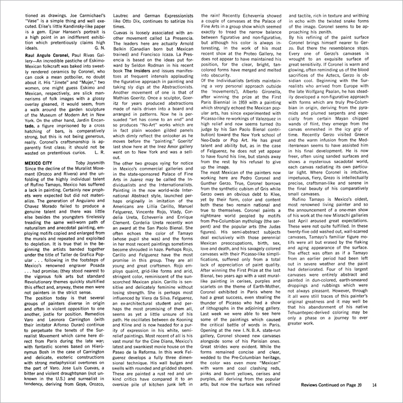 Reviews – Artforum International