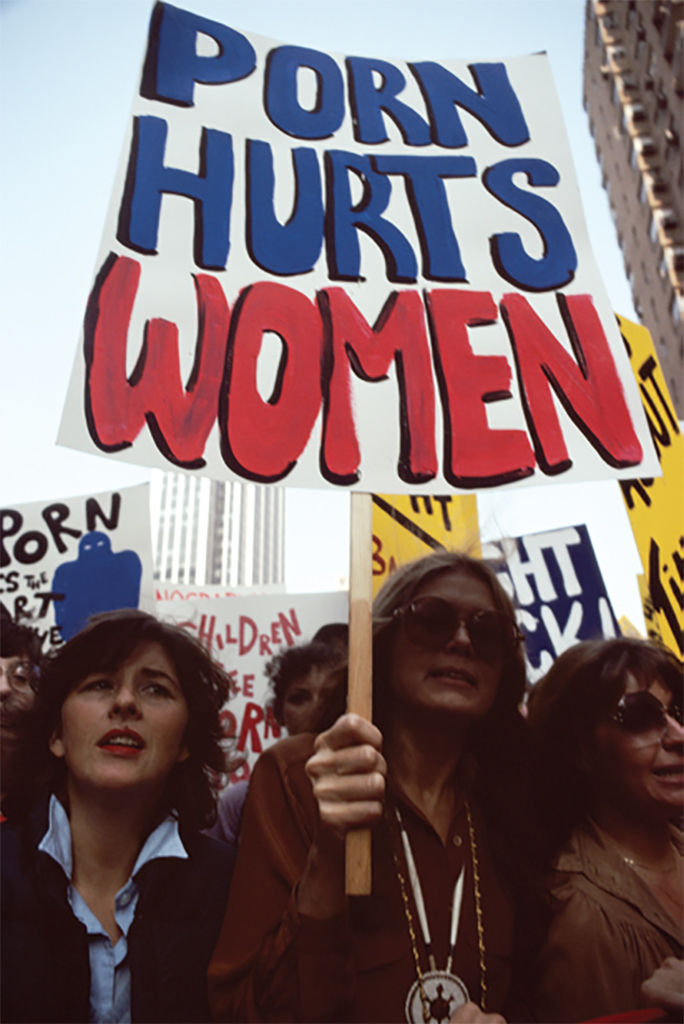 Women Against Pornography (WAP) protesters during the March on Times Square, New York, October 20, 1979. Photo: Barbara Alper/Getty.