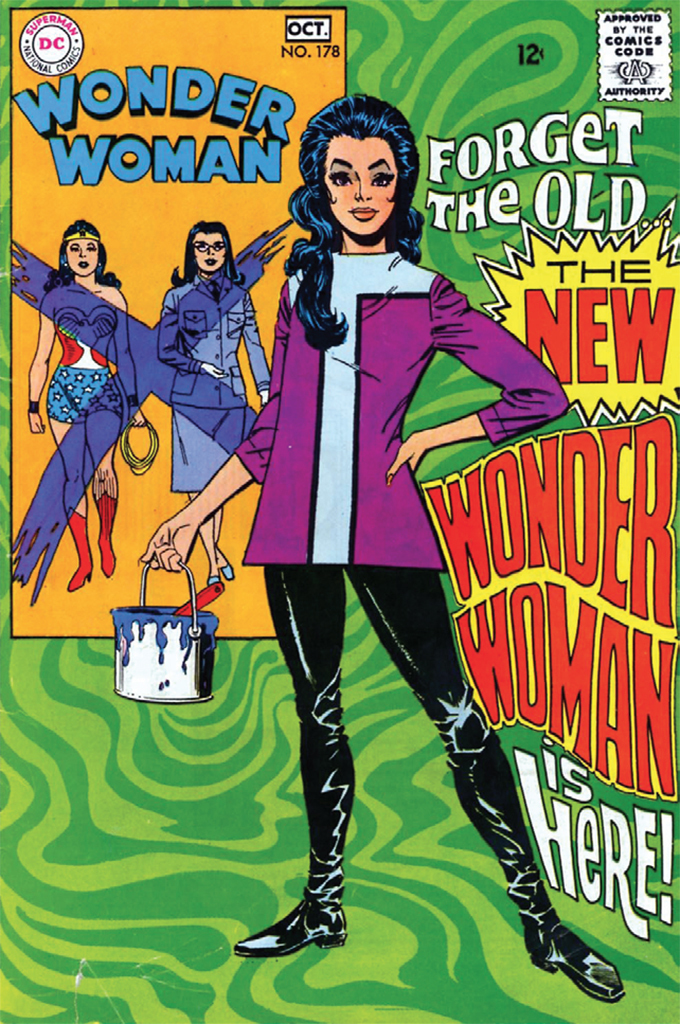 Cover of Mike Sekowsky and Dick Giordano's Wonder Woman, no. 178 (DC Comics, October 1968).